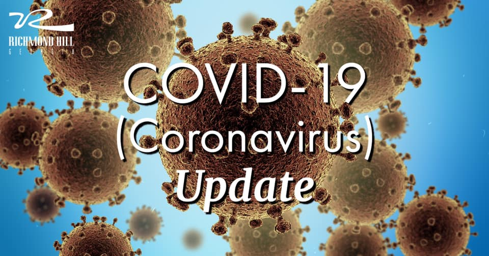"virus particles surrounding phrase ""coronavirus update"""